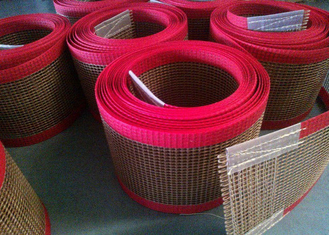 চীন PTFE polyester mesh fabric , PTFE polyester mesh fabric for conveyor belt / griddling cloth, made by PTFE coated সরবরাহকারী